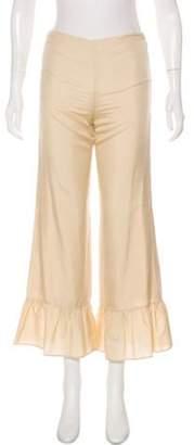 Gucci Mid-Rise Silk Pants w/ Tags Beige Mid-Rise Silk Pants w/ Tags