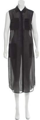 Alexander Wang Semi-Sheer Midi Dress
