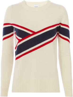 Madeleine Thompson Anastasia Collegiate-Striped Sweater