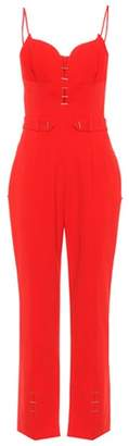 Thierry Mugler Embellished crêpe jumpsuit
