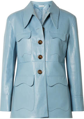 REJINA PYO - Olivia Faux Leather Jacket - Blue