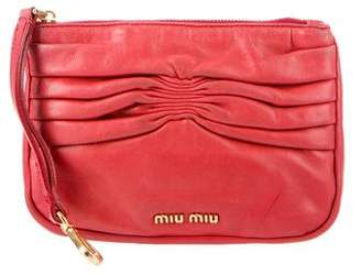 Miu Miu Small Leather Pouch