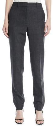 Calvin Klein Slim Straight-Leg Worsted Wool Check Pants