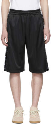 Marcelo Burlon County of Milan Black Kappa Edition Tape Shorts