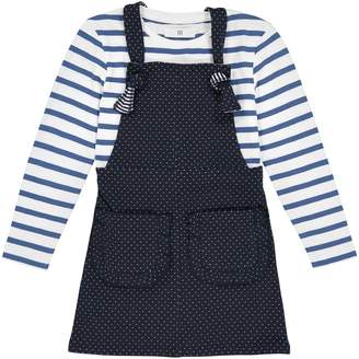 La Redoute COLLECTIONS Polka Dot Dress and T-Shirt Set, 3-12 Years