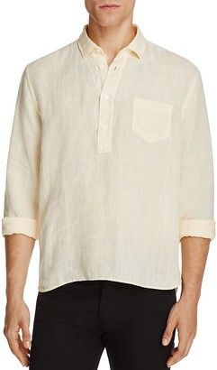 Solid & Striped Linen Regular Fit Popover Shirt $148 thestylecure.com