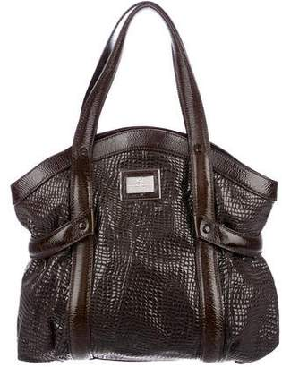 Giorgio Armani Embossed Leather Shoulder Bag