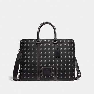 Coach Metropolitan Slim Brief With Dot Diamond Print