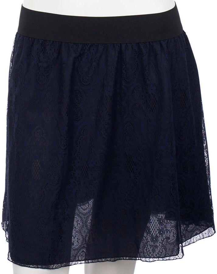 Leyendecker Lace Skirt - Navy