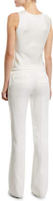 Gabriela Hearst Briggs Flared-Leg Silk Trousers