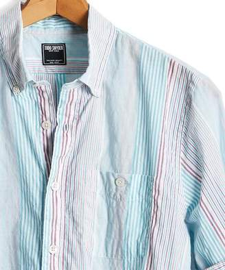 Todd Snyder Summerweight Awning Stripe Button-down Shirt