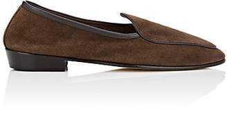 Baudoin & Lange Men's Suede Loafers - Med. brown