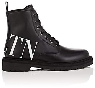 Valentino Women's Logo Leather Lace-Up Boots