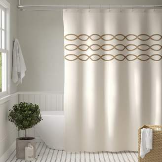 Charlton Home Gridley Cotton Shower Curtain
