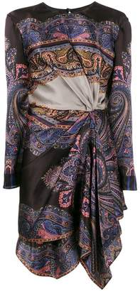 Etro printed draped asymmetric dress