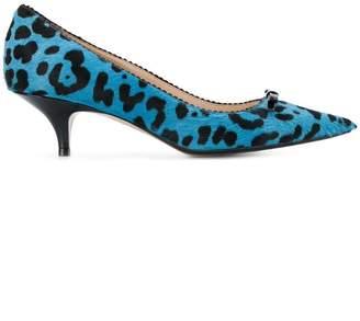 No.21 leopard-print kitten heels
