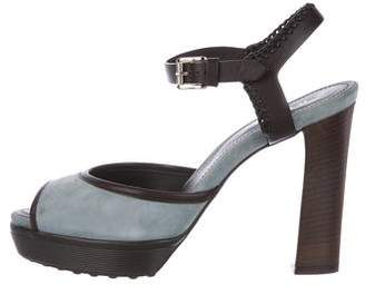 Tod's Nubuck Ankle-Strap Sandals