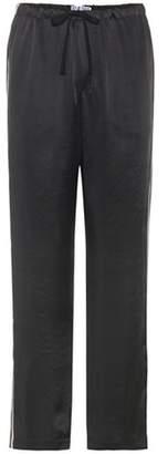 Brunello Cucinelli Striped satin trousers