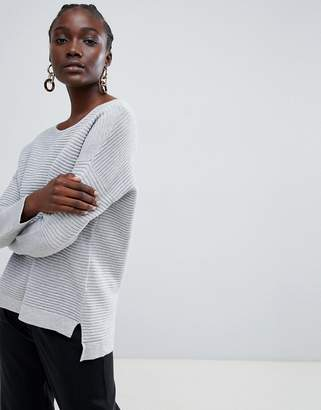 Selected Lava ribbed knit sweater