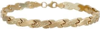 "14K Gold 7-1/4"" Stampato Criss-Cross Design Bracelet"