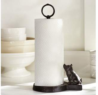 Pottery Barn Vintage Blacksmith Pig Paper Towel Holder