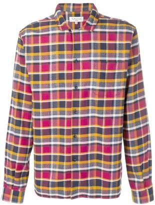 YMC check long-sleeve shirt