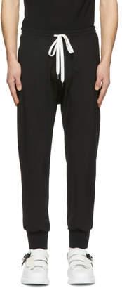 Neil Barrett Black and White Long Drop Crotch Trousers