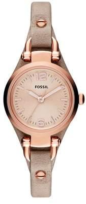 Fossil Women's Georgia Mini Watch Quartz Mineral Crystal ES3262