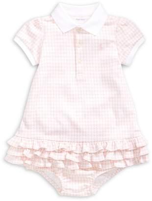 Ralph Lauren Childrenswear Baby Girl's 2-Piece Gingham-Print Dress Bloomers Set