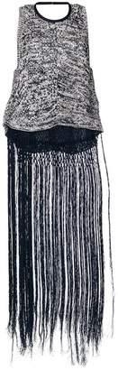 Aviu fringed knit tank top