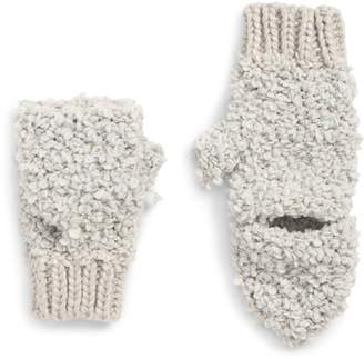 David & Young Convertible Faux Shearling Mittens