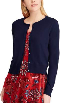 Chaps Women's Cropped Cardigan Sweater