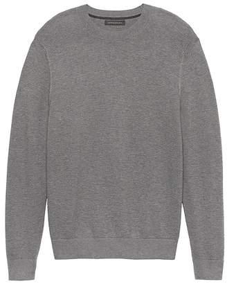 Banana Republic SUPIMA® Cotton Textured Crew-Neck Sweater
