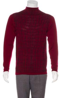 Just Cavalli Wool Funnel Neck Sweater