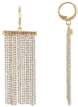 Jessica Simpson Wide Beaded Line Tassel Dangle Earrings