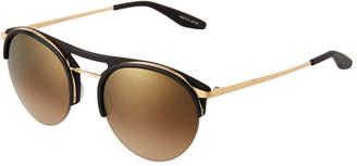 Barton Perreira Aurora Plastic & Titanium Round Sunglasses