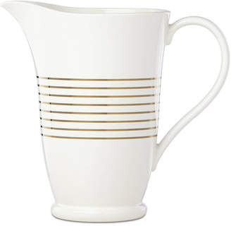 Kate Spade (ケイト スペード ニューヨーク) - kate spade new york Charles Lane Gold-Tone Stripe Accents Pitcher, Created for Macy's