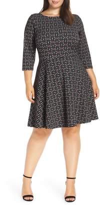 Leota Circle Knit Fit & Flare Dress