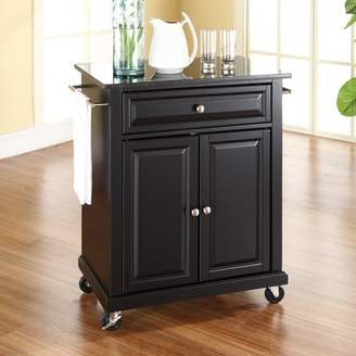 Crosley Furniture Black Granite Top Kitchen Island Cart