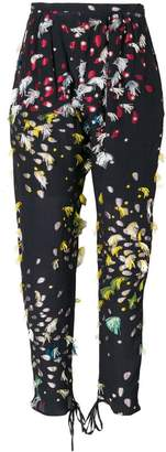 Chloé floral tapered trousers