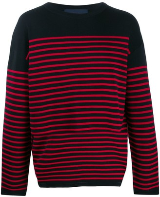 striped long-sleeve sweater