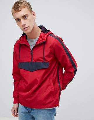 Brave Soul Half Zip Nylon Windbreaker Jacket