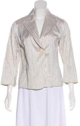 Akris Punto Striped Silk Blazer
