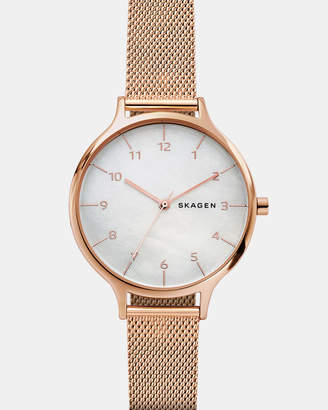Skagen Anita Rose Gold-Tone Analogue Watch