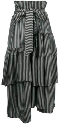 Christian Wijnants Saida striped asymmetric skirt