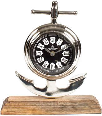 Privilege Aluminum & Wood Clock