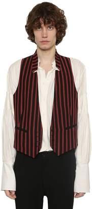 Ann Demeulemeester Striped Virgin Wool & Cotton Waistcoat