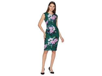 Vince Camuto Extended Cap Bodycon Print Dress