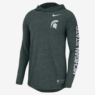 Nike College Elevated Essentials (Michigan) Men's Hooded Long Sleeve Top
