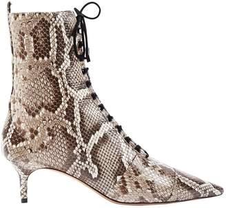 Alexandre Birman Beige Python Boots
